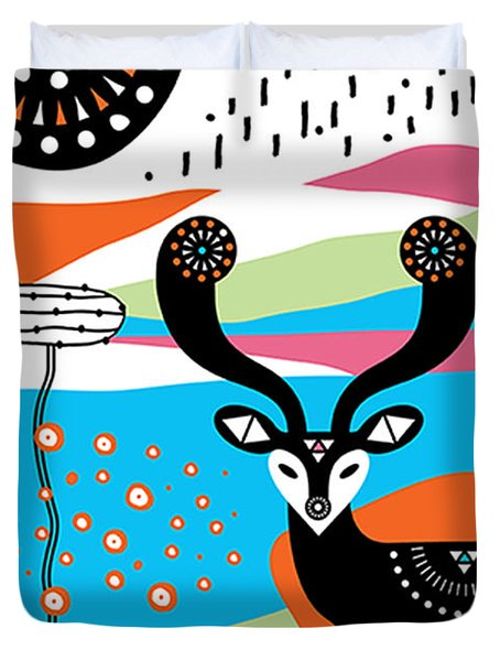 Deery Me Duvet Cover by Susan Claire