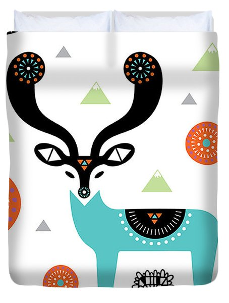 Deery Mountain Duvet Cover by Susan Claire