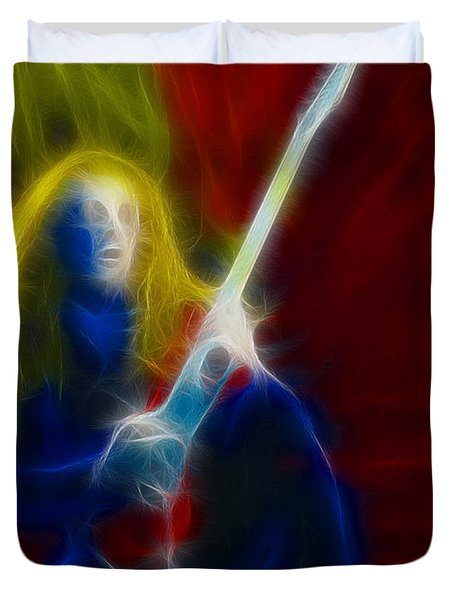 Def Leppard-adrenalize-ga5-vivian-fractal Duvet Cover by Gary Gingrich Galleries