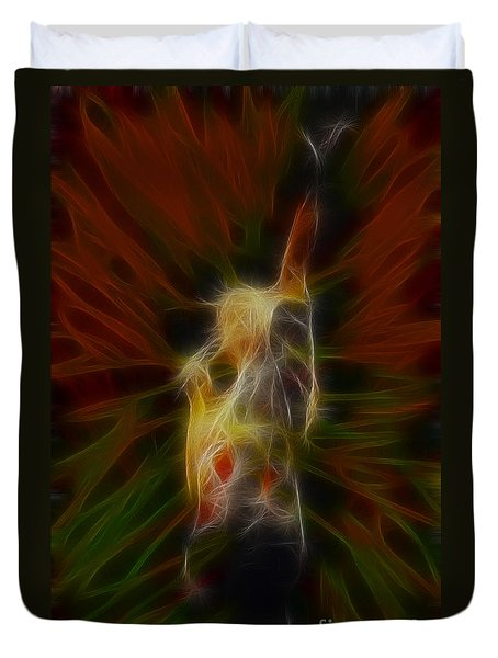 Def Leppard-adrenalize-joe-gb22-fractal-1 Duvet Cover by Gary Gingrich Galleries