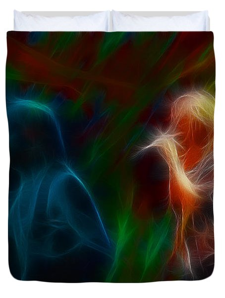 Def Leppard-adrenalize-jor-gb20--fractal Duvet Cover by Gary Gingrich Galleries
