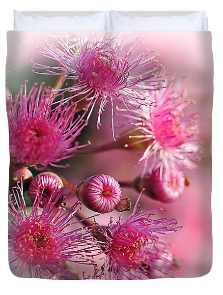 Delicate Buds and Blossoms Duvet Cover by Kaye Menner
