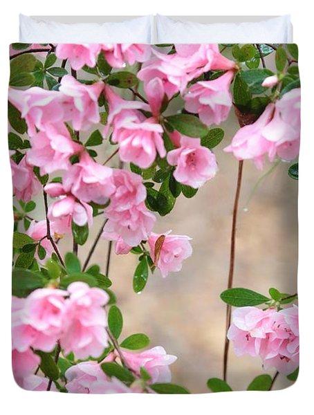 Delicate Pink Azaleas Duvet Cover by Carol Groenen