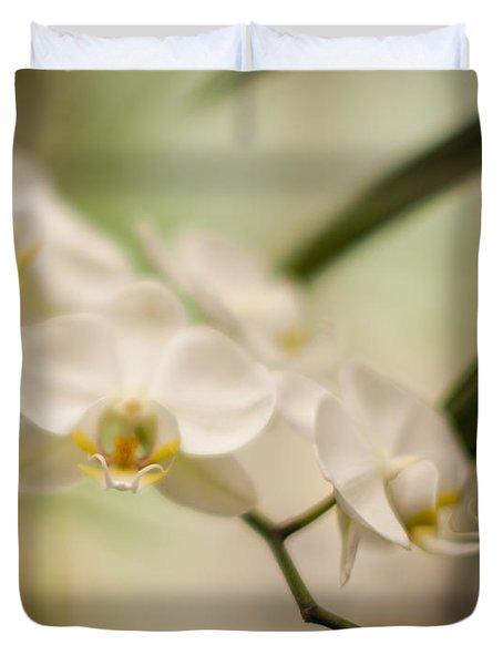Delicate Romance Lace Duvet Cover by Mike Reid