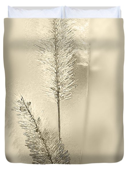 Delicate Sweetgrass Duvet Cover by Heiko Koehrer-Wagner