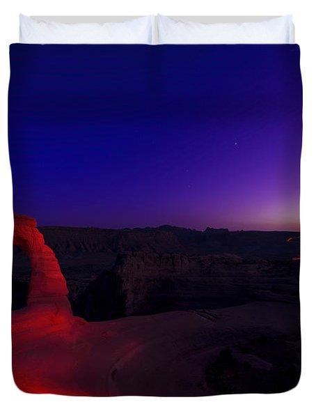 Delicate Twilight Duvet Cover by Dustin  LeFevre
