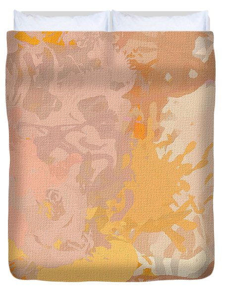 Delicately Peach Duvet Cover by Lourry Legarde