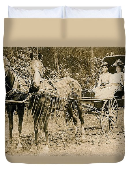Delivering The Mail 1907 Duvet Cover by Floyd Russell