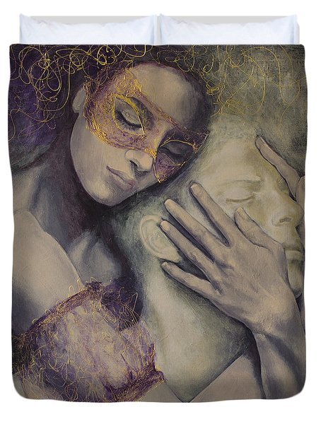 Delusion Duvet Cover by Dorina  Costras