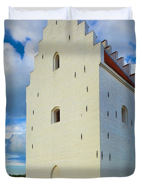 Den Tilsandede Kirke Steeple Duvet Cover by Inge Johnsson