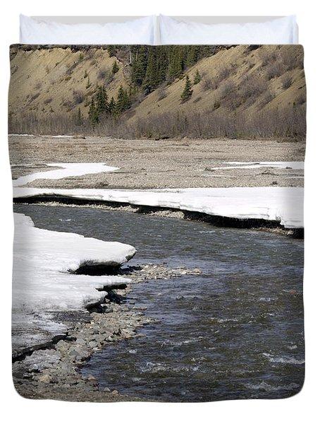 Denali Area River  Duvet Cover by Tara Lynn