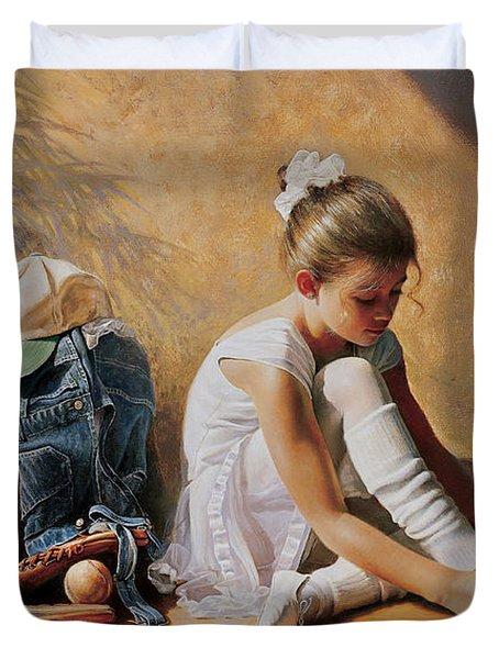 Denim To Lace Duvet Cover by Greg Olsen