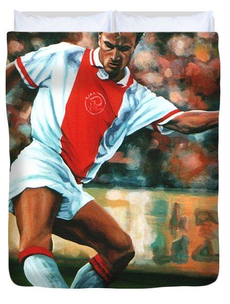 Dennis Bergkamp 2 Duvet Cover by Paul  Meijering