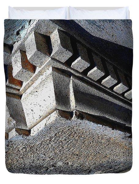 Dent Espace La Verite Trebuche Sur La Place Publique Duvet Cover by Contemporary Luxury Fine Art