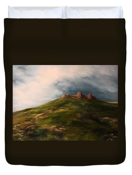 Deralict Chartley Castle Staffordshire Duvet Cover by Jean Walker