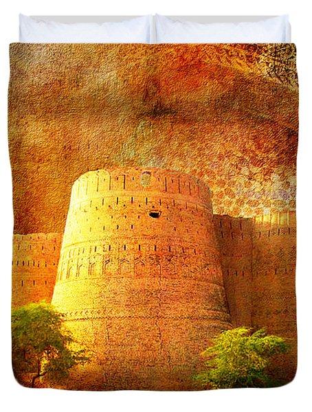 Derawar Fort Duvet Cover by Catf