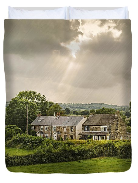 Derbyshire Cottages Duvet Cover by Amanda And Christopher Elwell