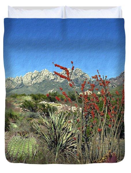 Desert Bloom Duvet Cover by Kurt Van Wagner
