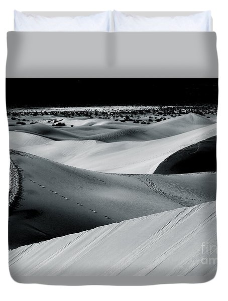 Desert Night Death Valley By Diana Sainz Duvet Cover by Diana Sainz