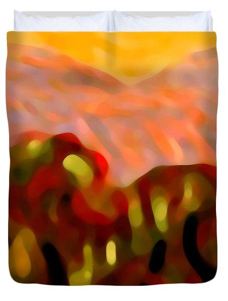Desert Olive Trees Duvet Cover by Amy Vangsgard