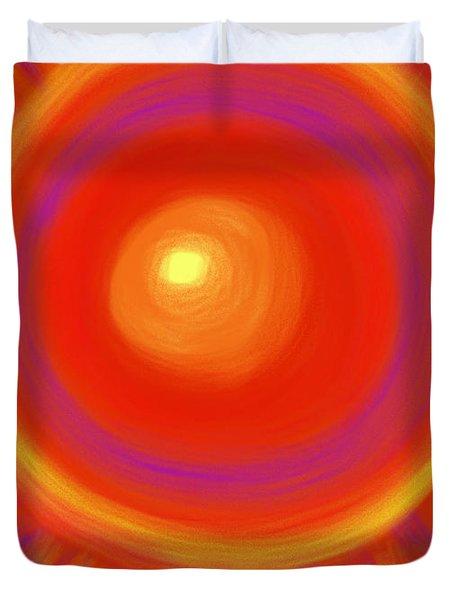 Desert Sunburst Duvet Cover by Daina White