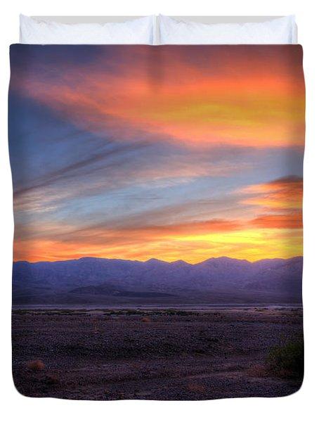 Desert Sunset Duvet Cover by Heidi Smith