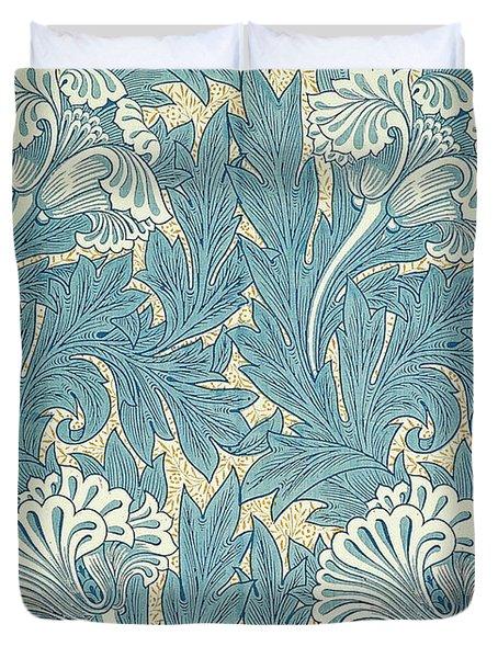 Design In Turquoise Duvet Cover by William Morris