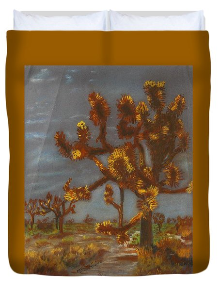 Dessert Trees Duvet Cover by Michael Anthony Edwards
