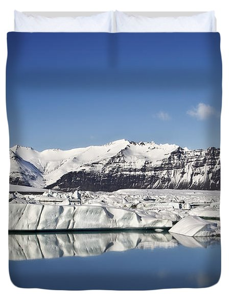 Destination - Iceland Duvet Cover by Evelina Kremsdorf