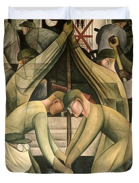Detroit Industry  South Wall Duvet Cover by Diego Rivera