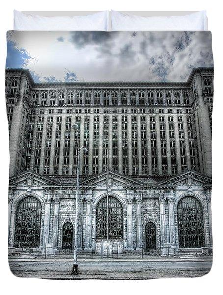 Detroit's Abandoned Michigan Central Train Station Depot Duvet Cover by Gordon Dean II