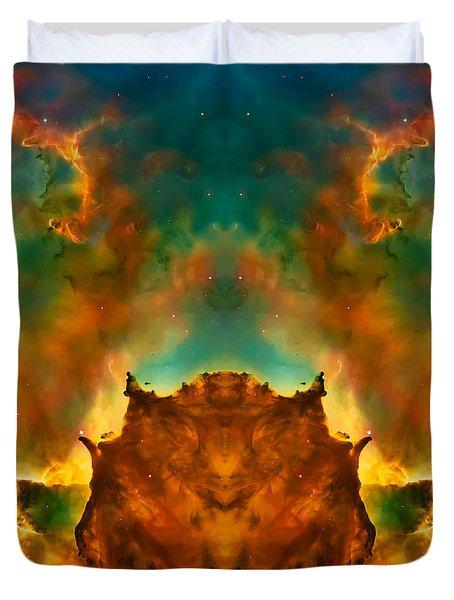 Devil Nebula Duvet Cover by The  Vault - Jennifer Rondinelli Reilly