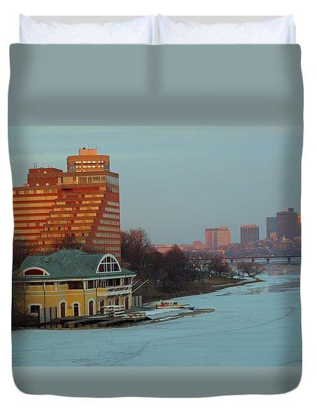 DeWolfe Boathouse Riverside Duvet Cover by Barbara McDevitt