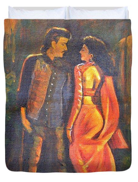 Dhak Dhak Duvet Cover by Usha Shantharam