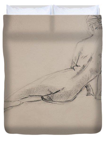 Diagonal Form Duvet Cover by Sarah Parks