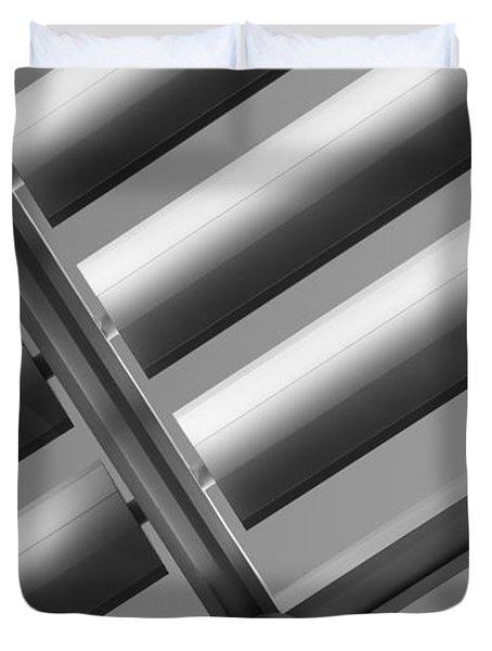 Diagonal Lines Duvet Cover by Darryl Dalton