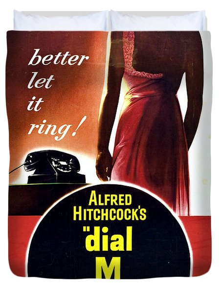Dial M For Murder - 1954 Duvet Cover by Georgia Fowler