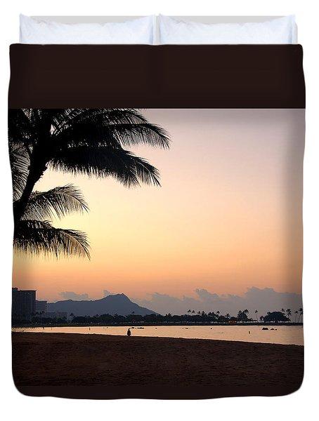 Diamond Head Sunrise - Honolulu Hawaii Duvet Cover by Brian Harig