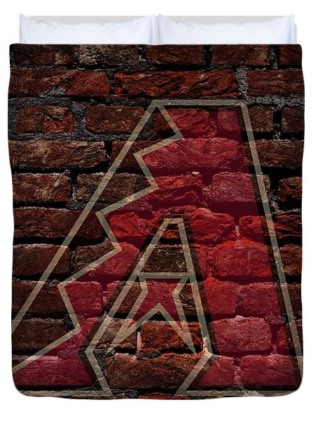 Diamondbacks Baseball Graffiti on Brick  Duvet Cover by Movie Poster Prints