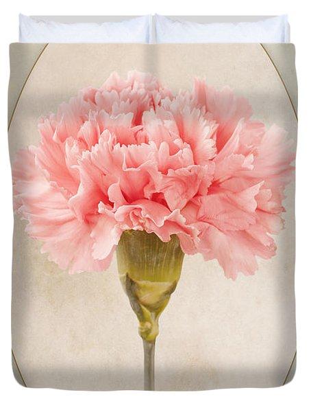 Dianthus Caryophyllus Carnation Duvet Cover by John Edwards