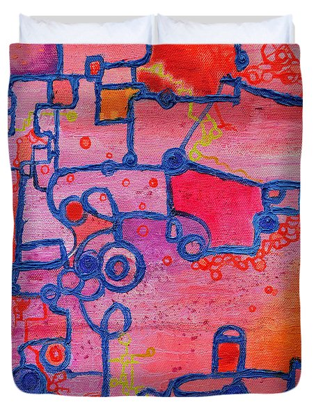 Dichotomy  Original Abstract Oil Painting By Regina Valluzzi Duvet Cover by Regina Valluzzi