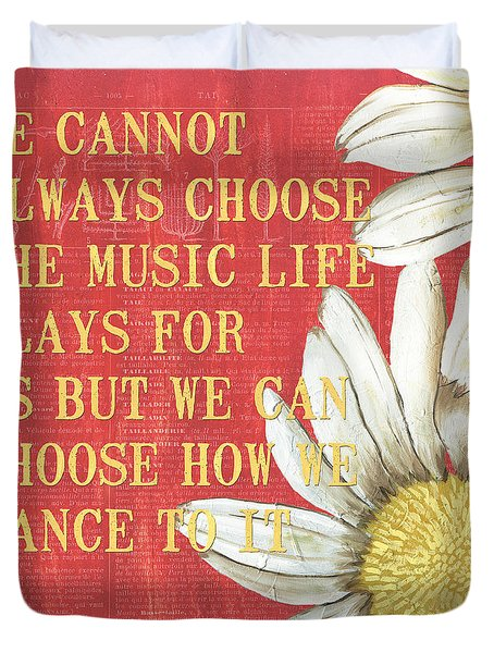 Dictionary Floral 1 Duvet Cover by Debbie DeWitt
