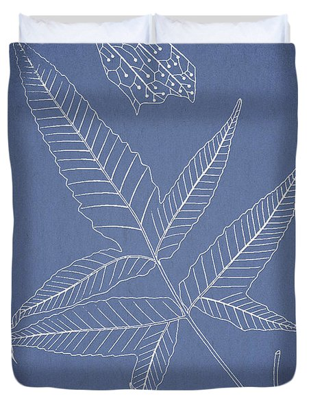 Dictyopteris barberi Duvet Cover by Aged Pixel