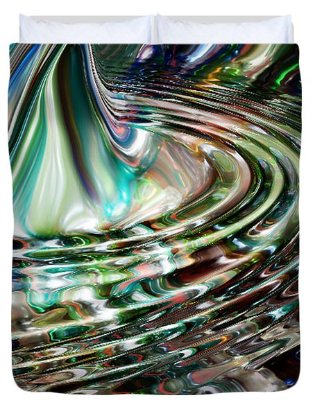Digital Liquid Duvet Cover by Cheryl Young