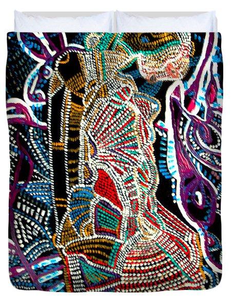 Dinka Bride Duvet Cover by Gloria Ssali