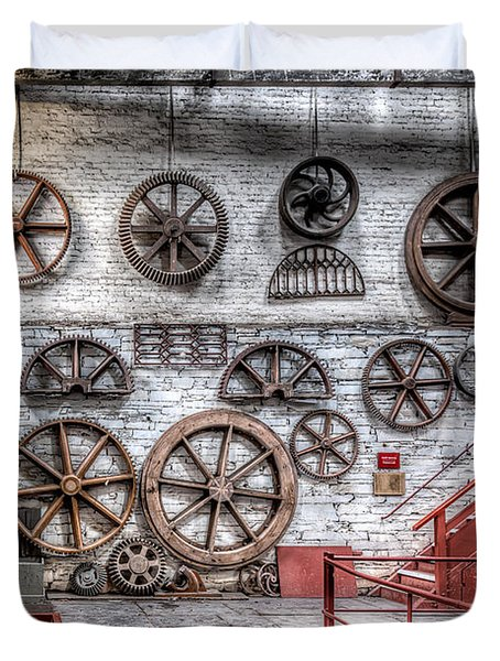 Dinorwig Quarry Workshop Duvet Cover by Adrian Evans
