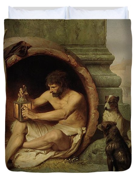 Diogenes Duvet Cover by Jean Leon Gerome