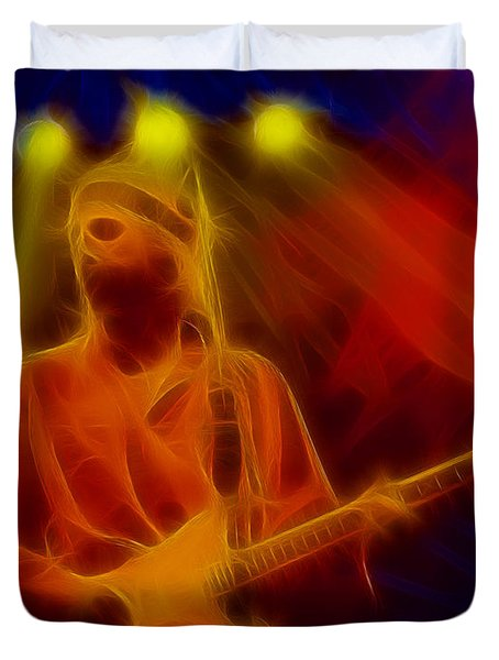Dire Straits-4-fractal Duvet Cover by Gary Gingrich Galleries
