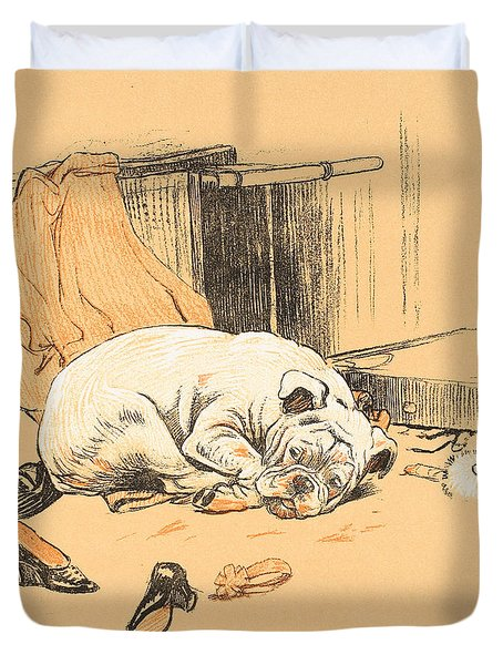Disappointment At Not Finding The Chocolates Duvet Cover by Cecil Charles Windsor Aldin