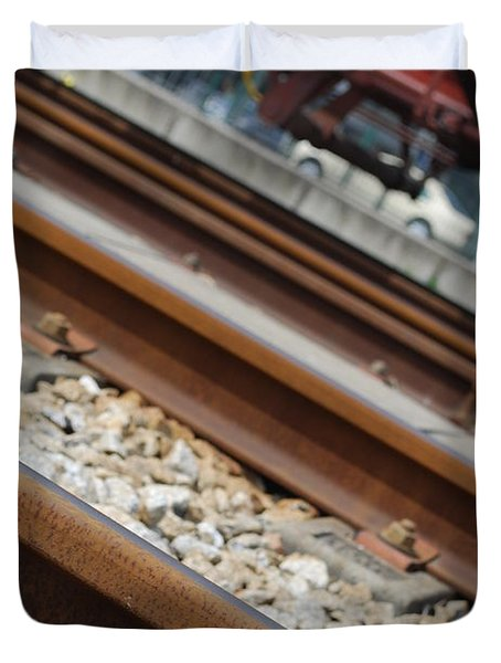 Dismantled Train Station Duvet Cover by Luis Alvarenga